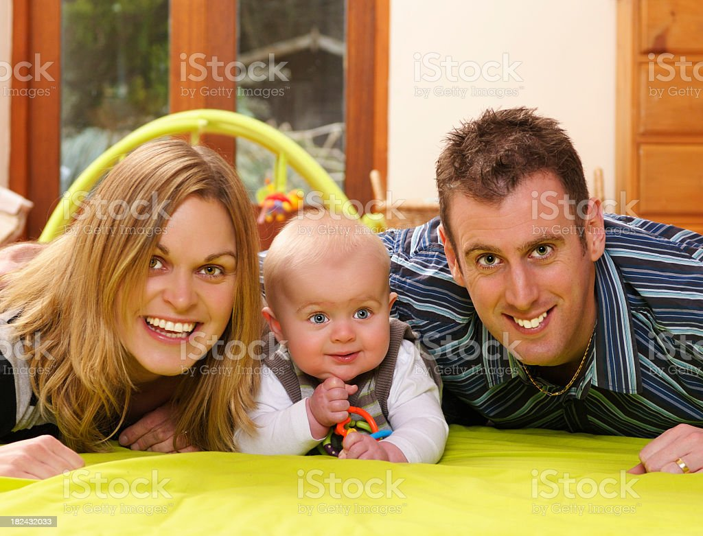 Family Enjoying Playtime Indoors stock photo