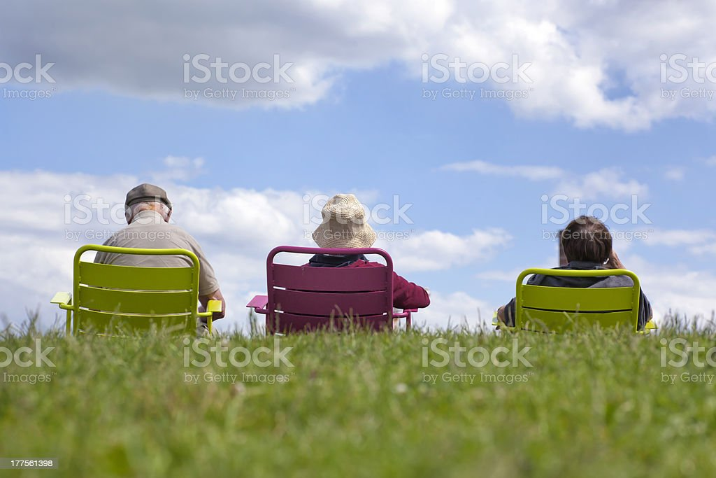 Family enjoying recreation stock photo
