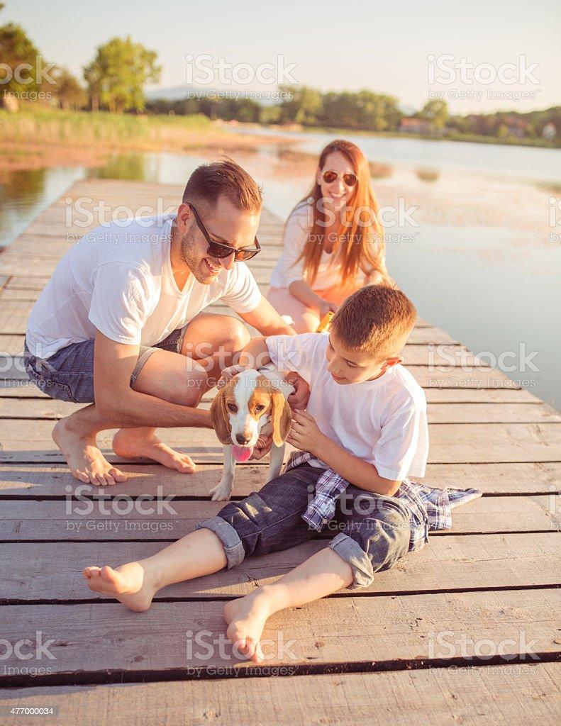 Family enjoyment stock photo