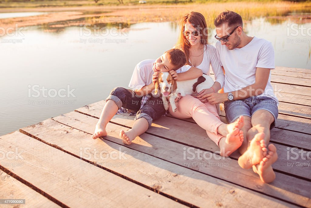 Family enjoyment stock photo