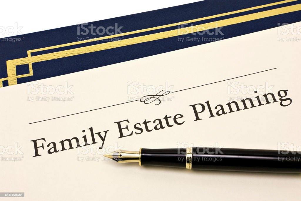 Family Estate Planning royalty-free stock photo