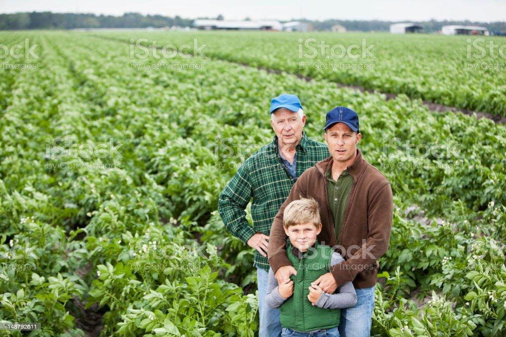 Family farm stock photo