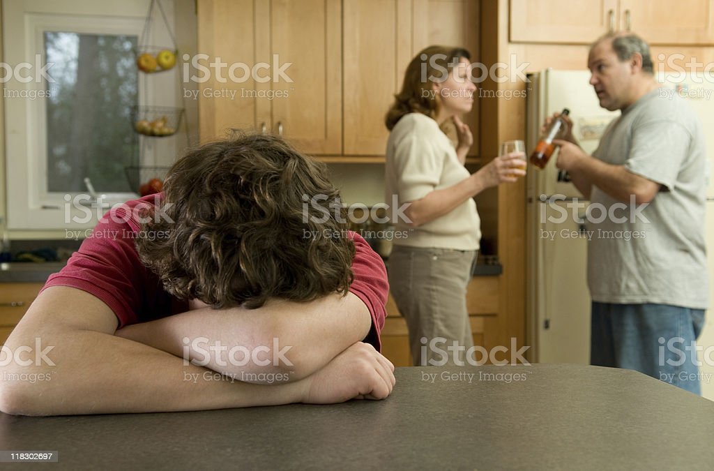 Family fight stock photo