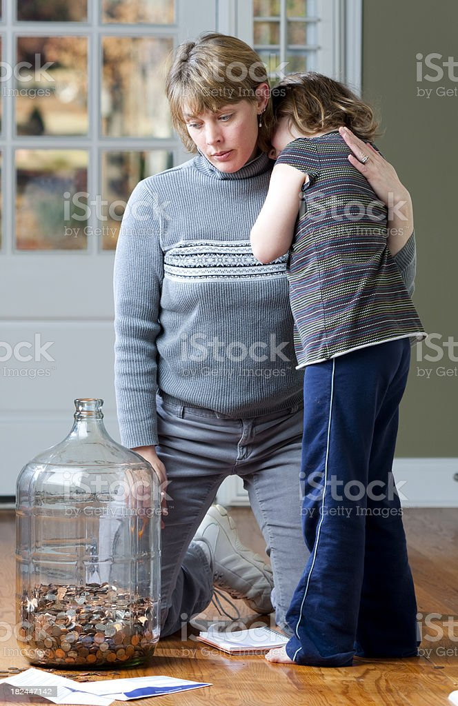 Family Financial Troubles stock photo