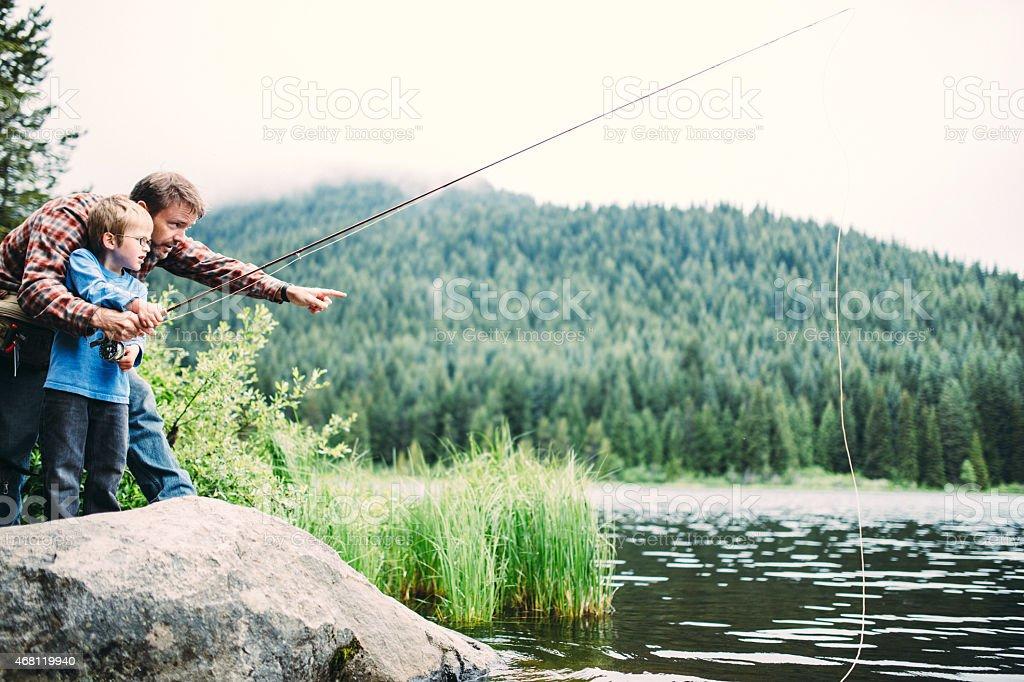 Family Fishing Trip stock photo