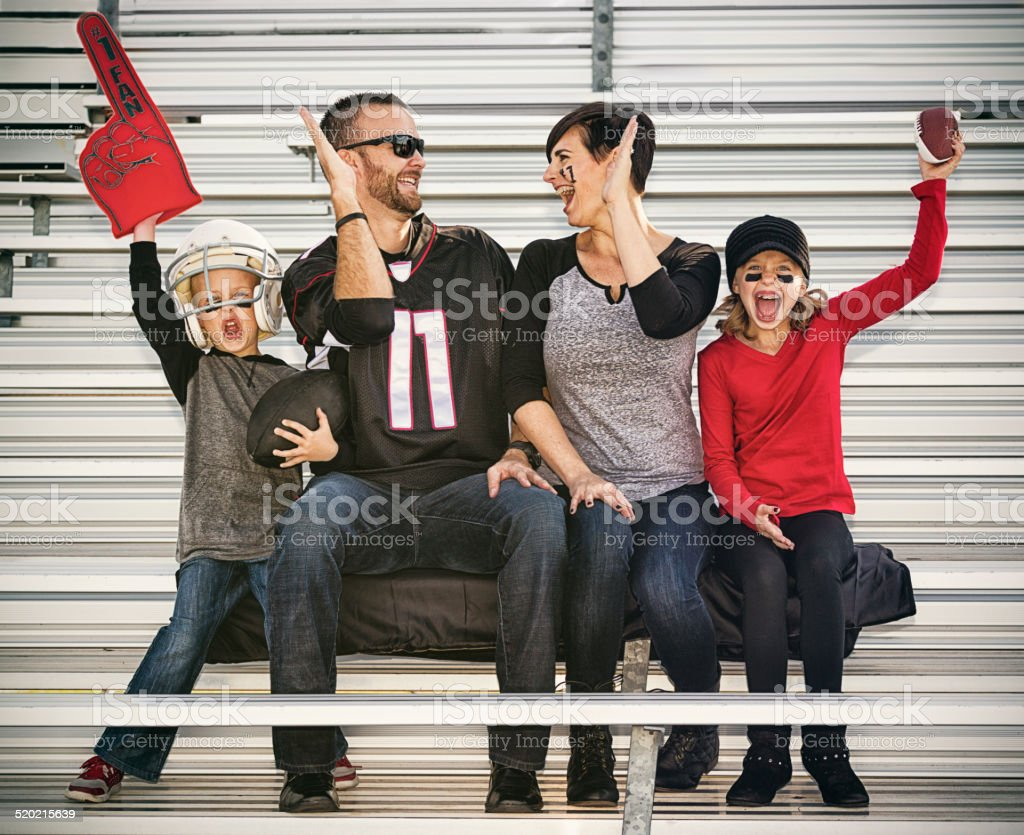 Family Football Fans stock photo