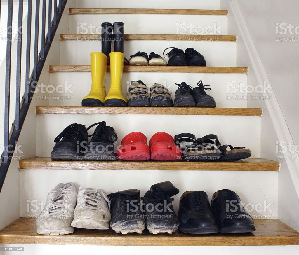 Family Footwear stock photo