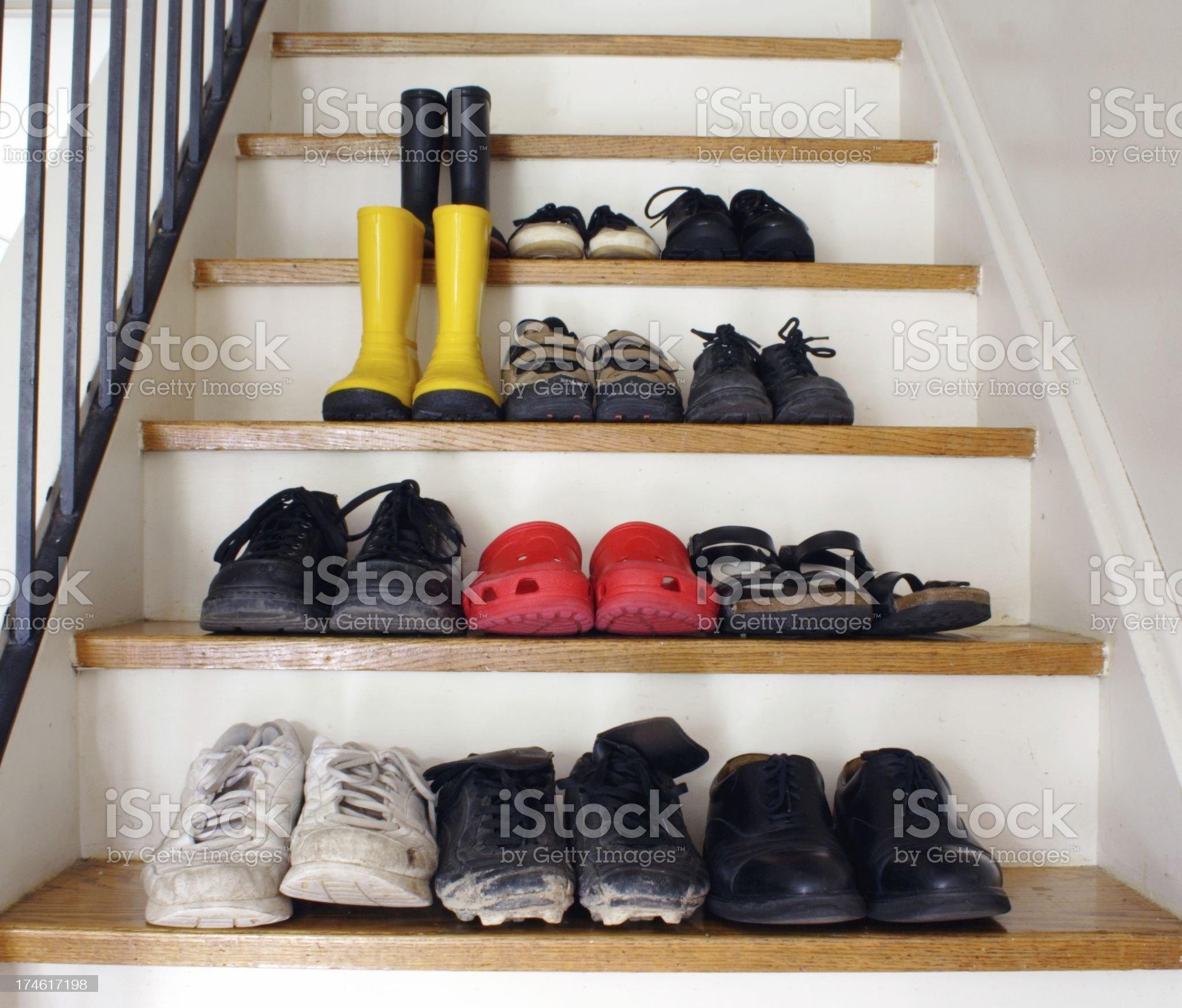Family Footwear royalty-free stock photo