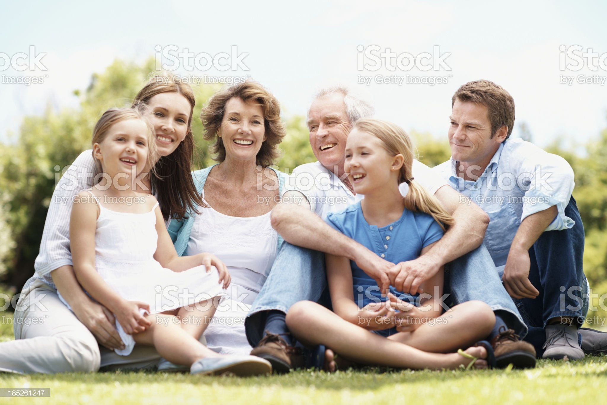 Family founded on love and values royalty-free stock photo