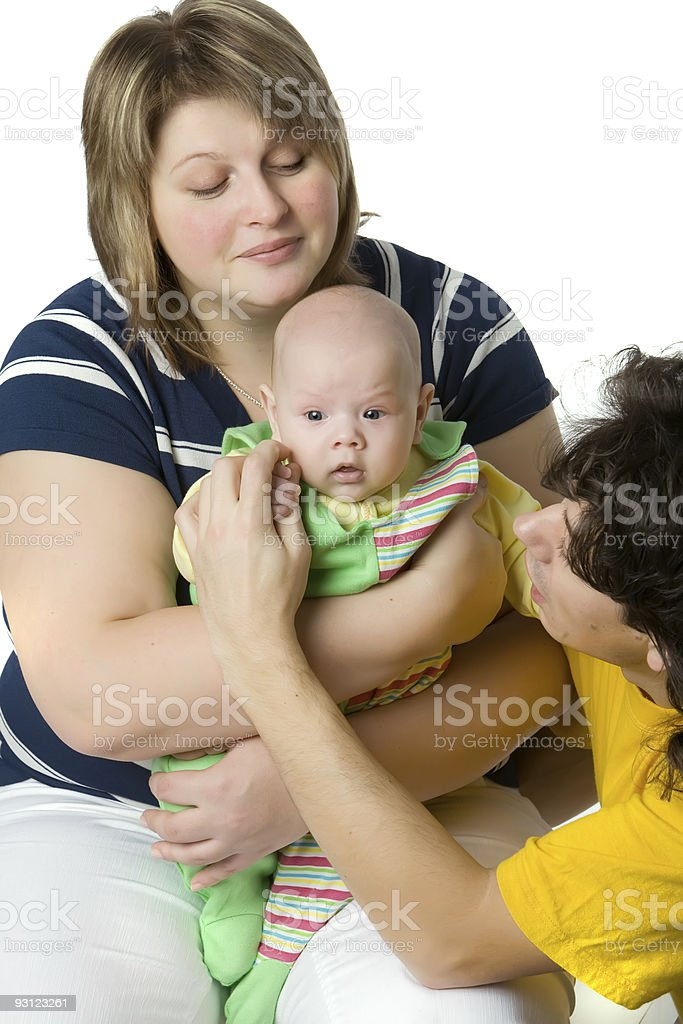 Family from three persons royalty-free stock photo