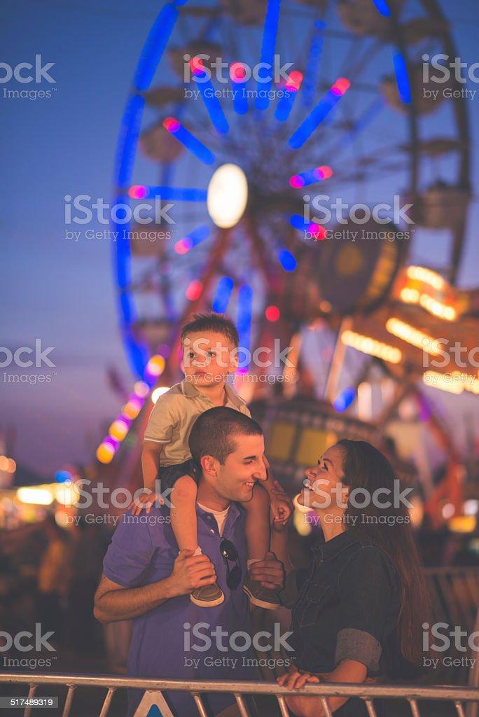 Family Fun at Fair stock photo
