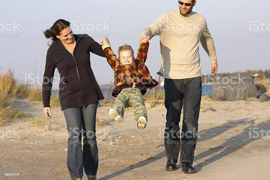 Family Fun at the Beach royalty-free stock photo