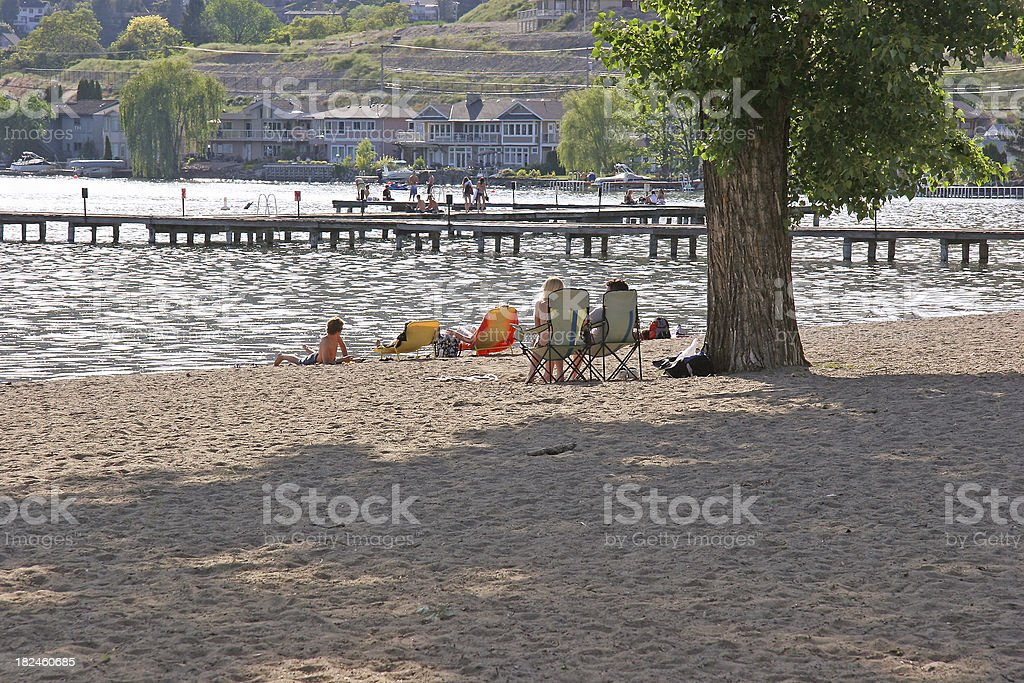 Family Fun At The Local Beach stock photo