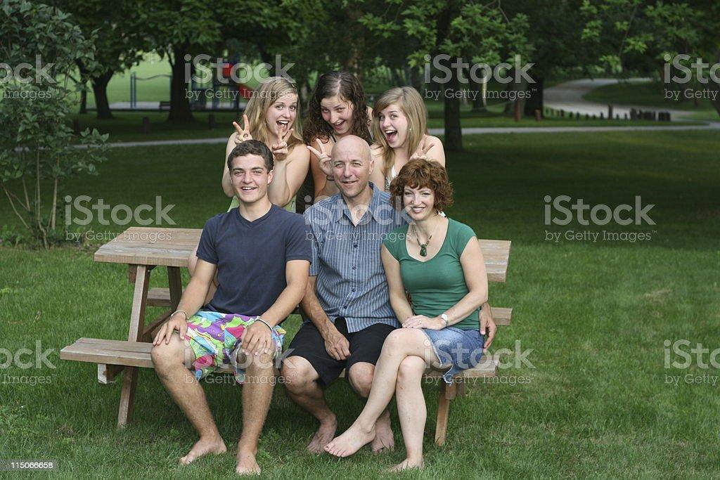 Family Fun; girls just wanna stock photo