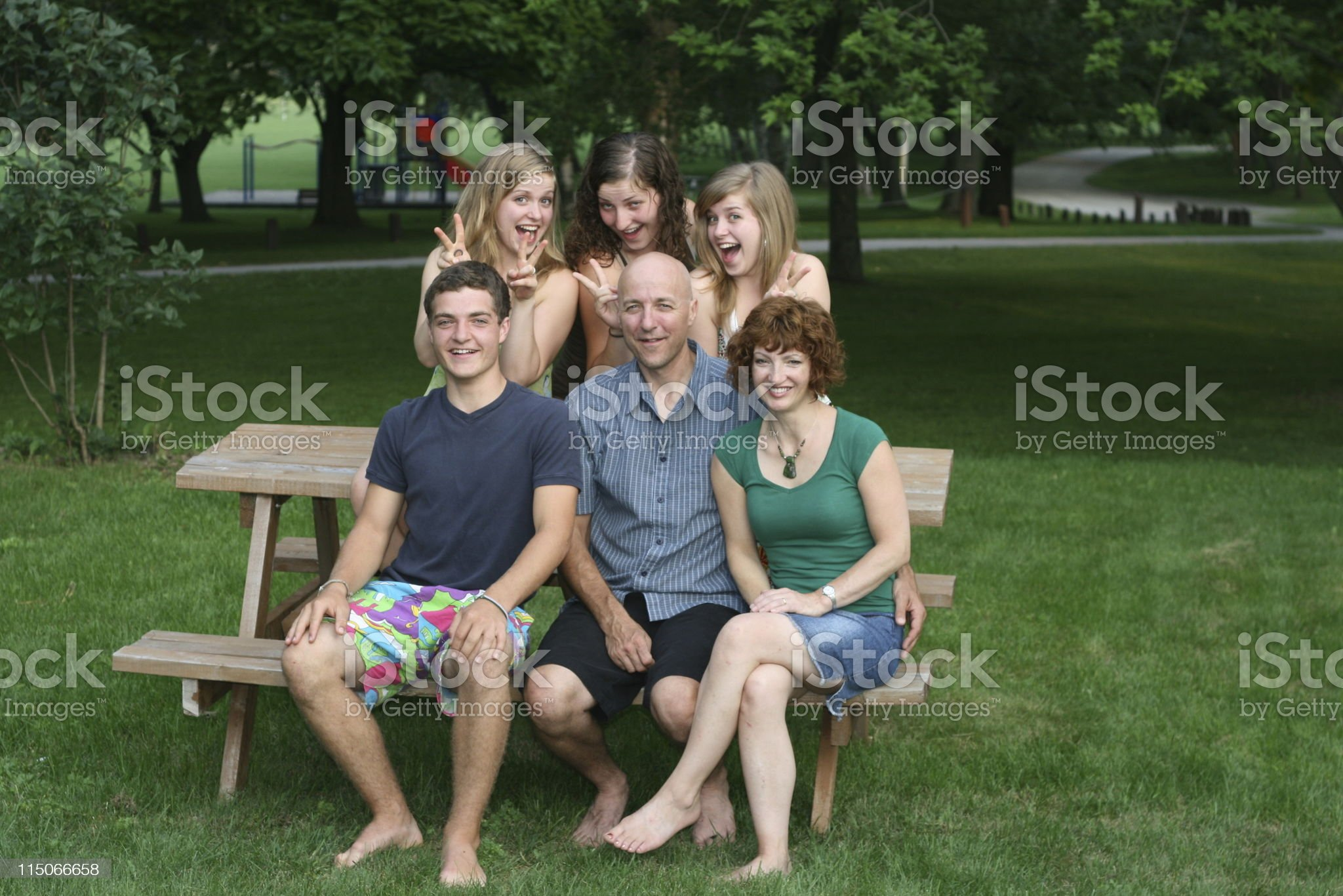 Family Fun; girls just wanna royalty-free stock photo