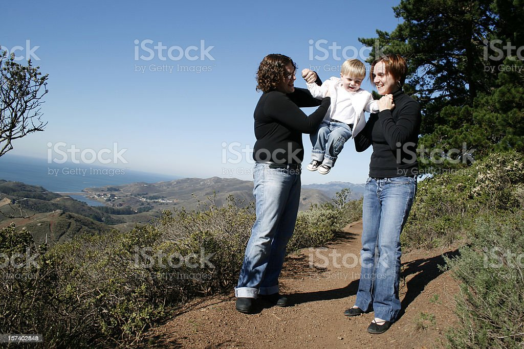 Family Fun in the Headlands royalty-free stock photo