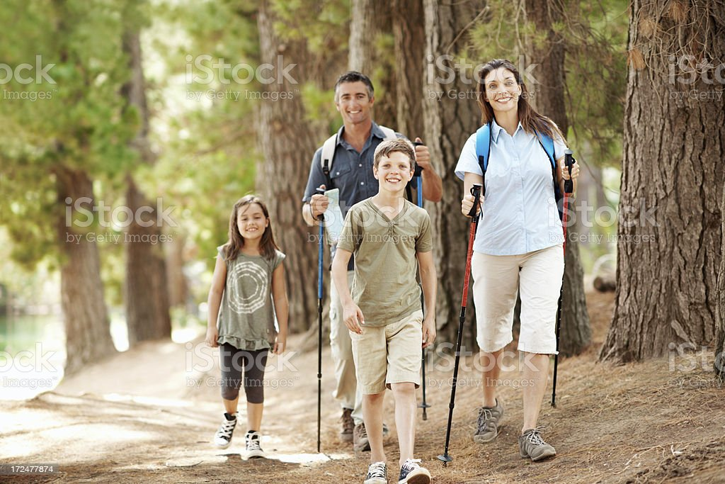 Family fun out in the wild royalty-free stock photo