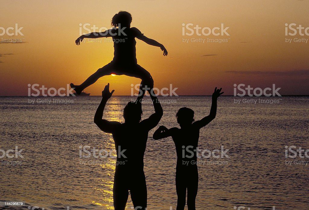 Family Fun stock photo