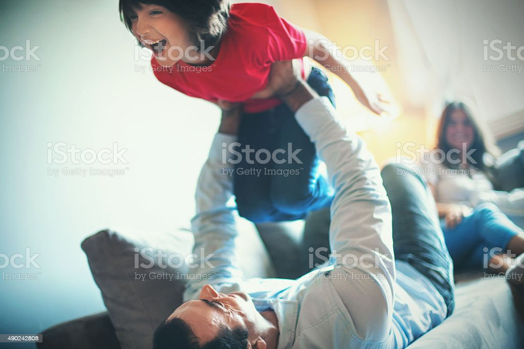 Family fun. stock photo