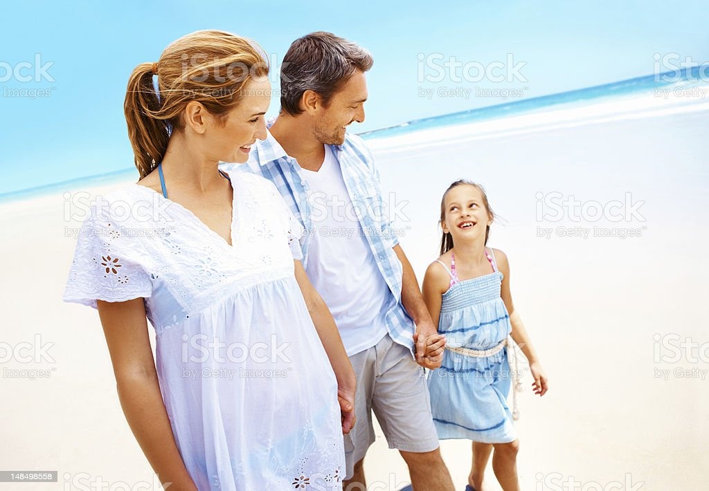 Family fun with mom and dad royalty-free stock photo