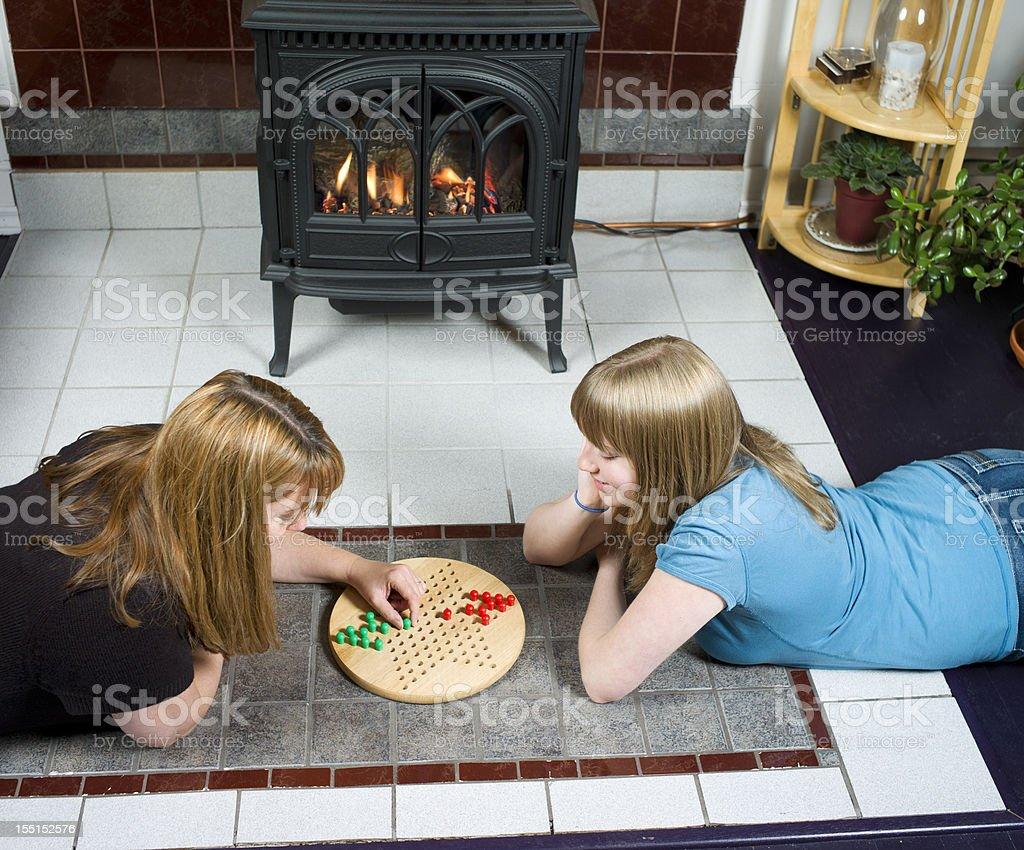 Family Game Night. stock photo