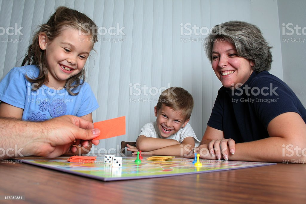 Family Game Night royalty-free stock photo