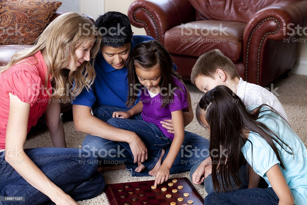 Family Game Time royalty-free stock photo
