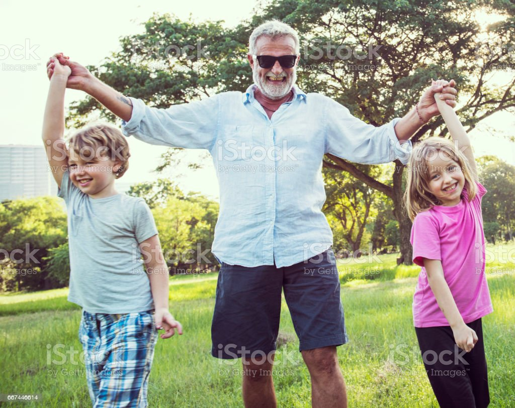 Family Generations Parenting Togetherness Relaxation Concept stock photo