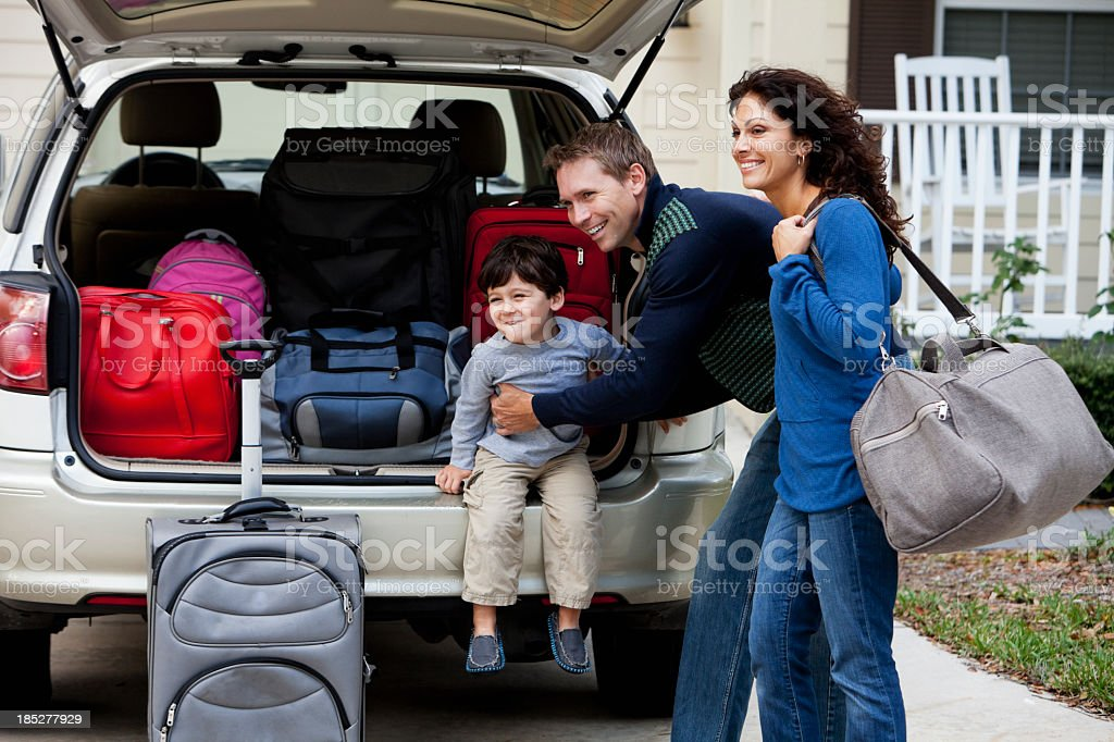 Family going on road trip royalty-free stock photo