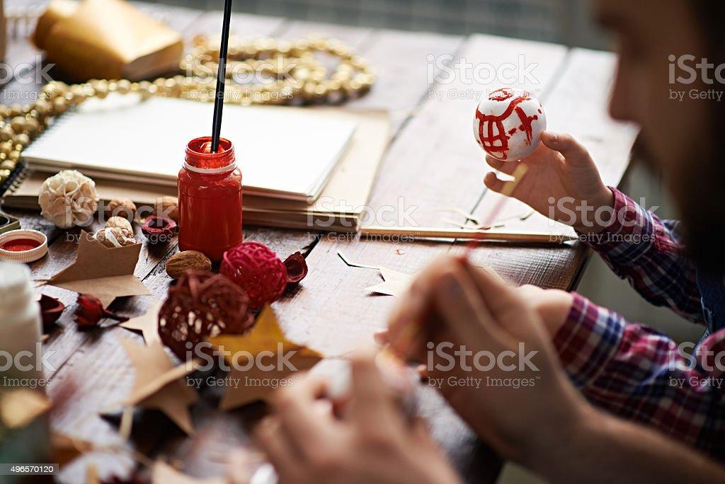 Family handmade stock photo