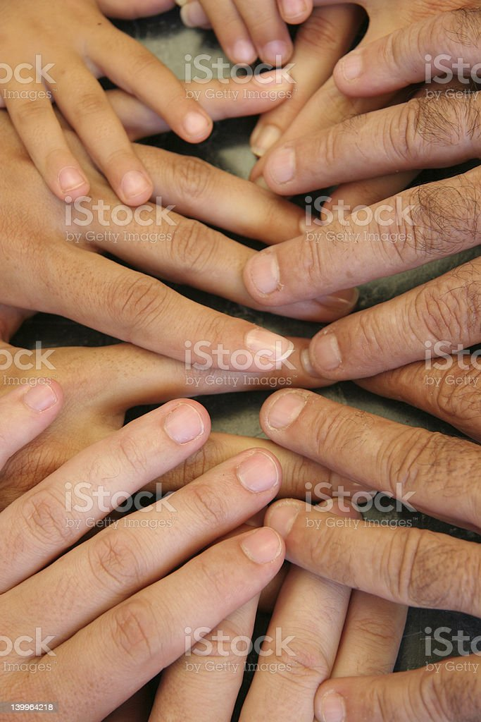Family hands 2 royalty-free stock photo