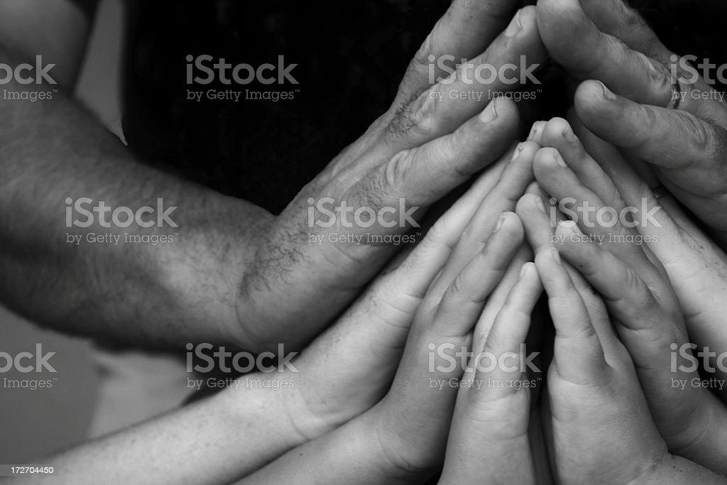 family hands royalty-free stock photo