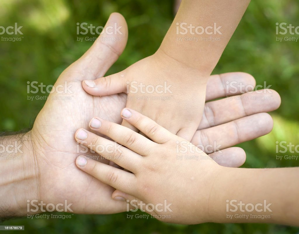 Family Hands royalty-free stock photo