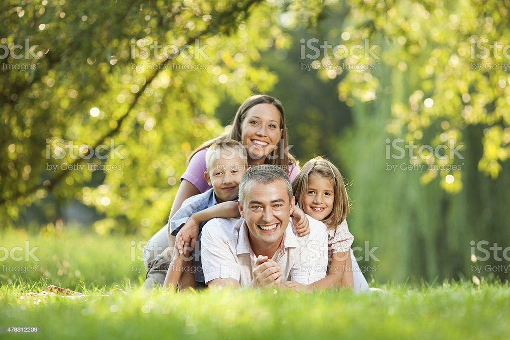 Family happiness royalty-free stock photo