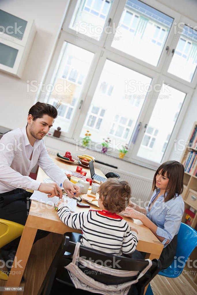 Family having Breakfast royalty-free stock photo