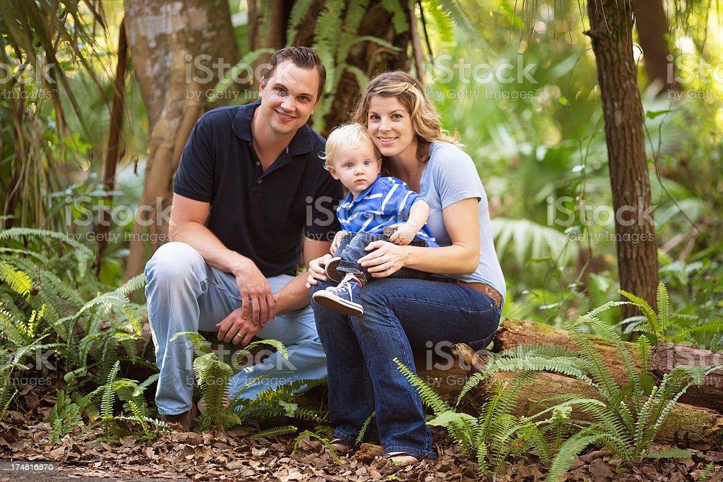 family having fun on a park. royalty-free stock photo