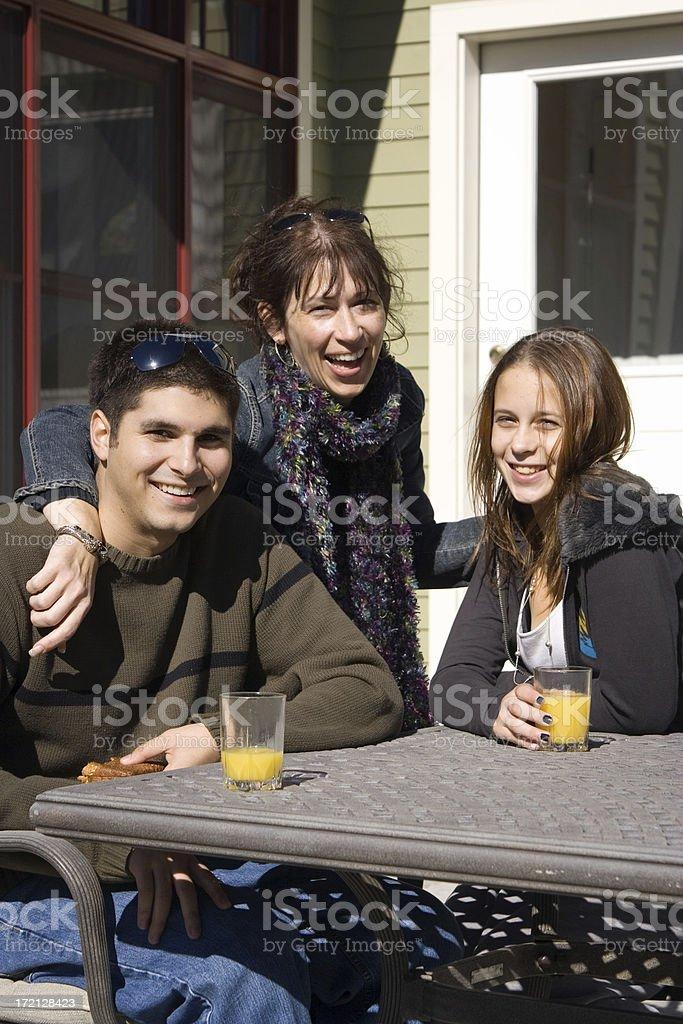 Family having fun royalty-free stock photo