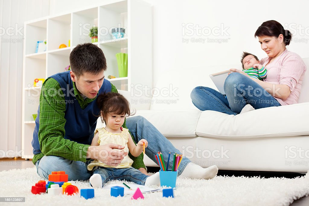 Family Having Fun Together At Home royalty-free stock photo