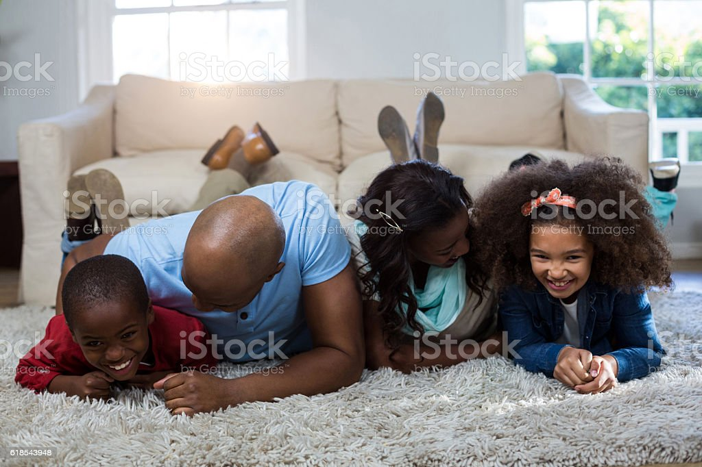 Family having fun with each other stock photo