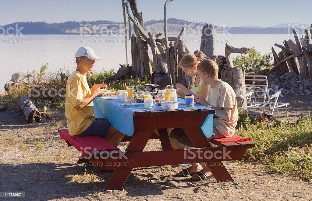 Family having Picnic royalty-free stock photo