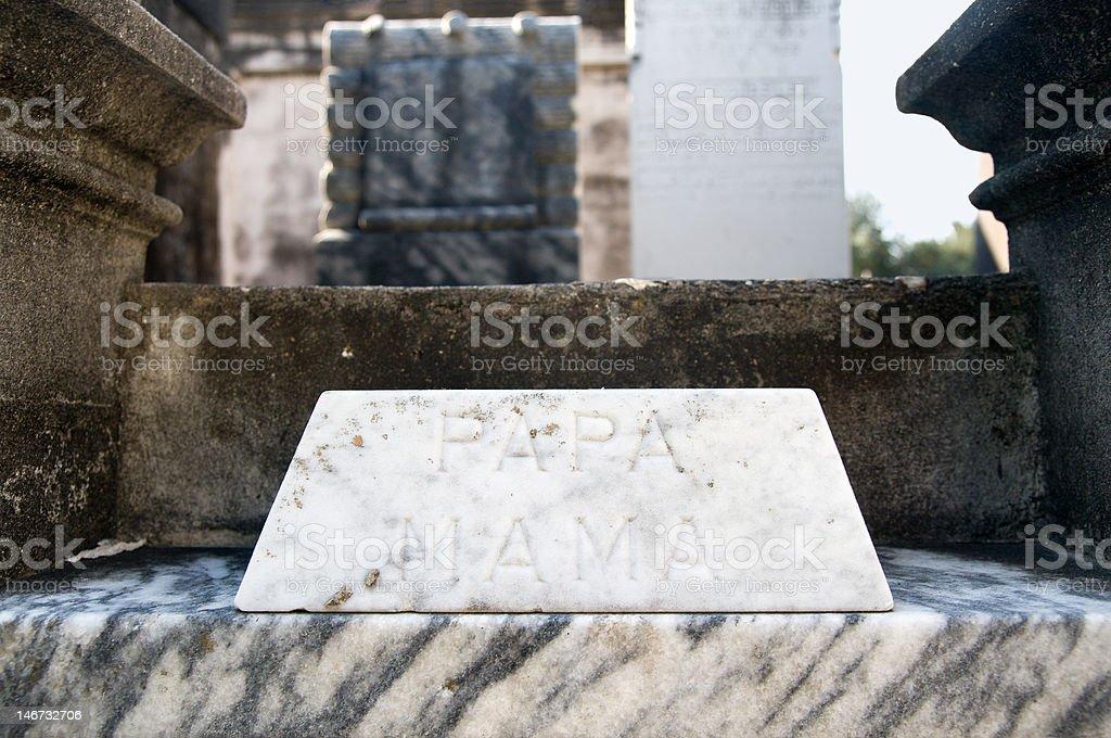 Family Headstone royalty-free stock photo