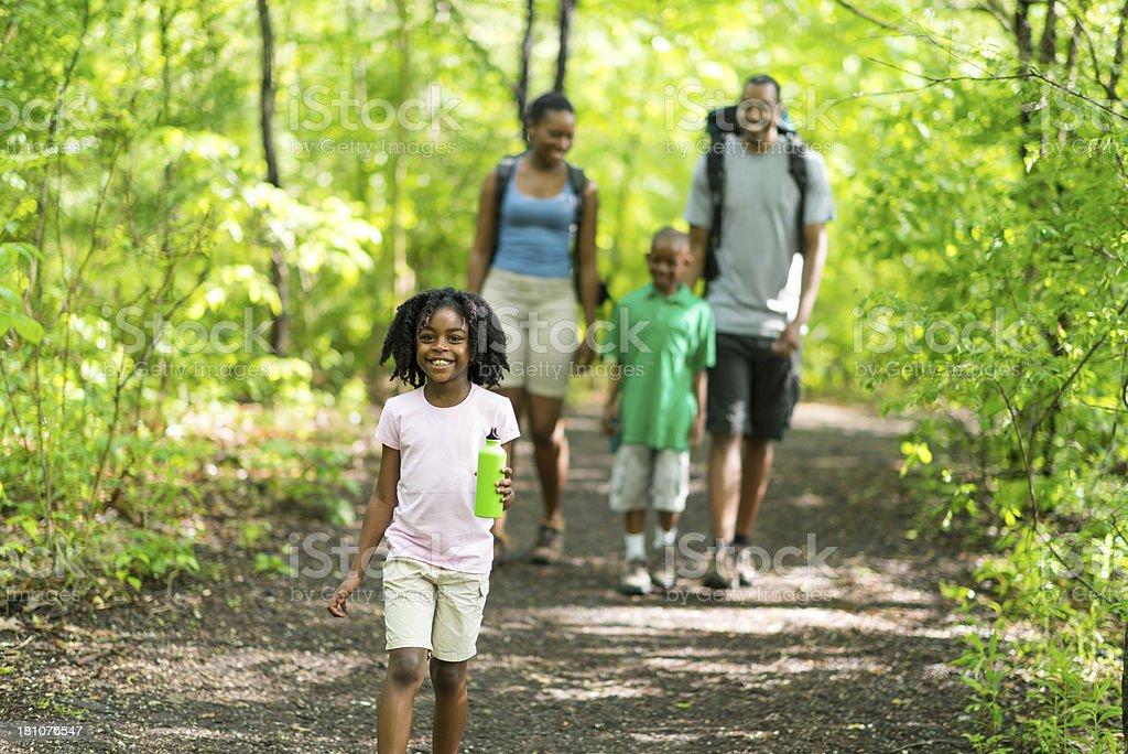 Family Hike royalty-free stock photo