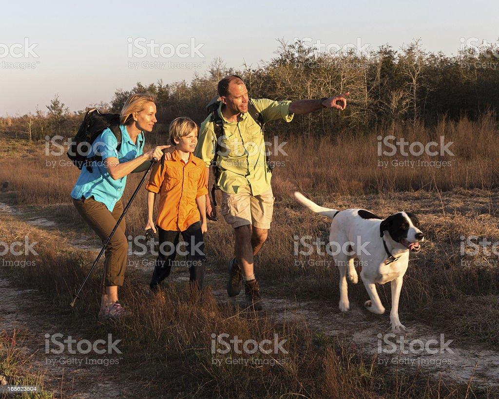 Family Hiking royalty-free stock photo