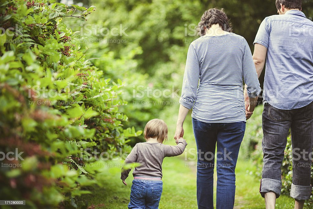 Family Hiking Together royalty-free stock photo