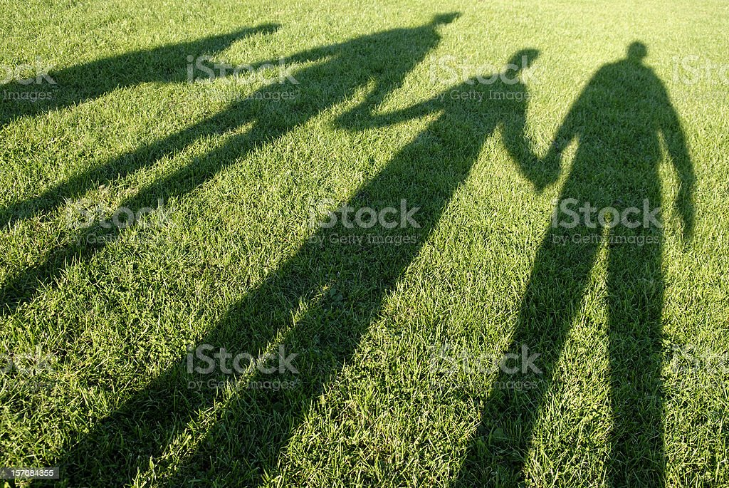 Family Holding Hands stock photo