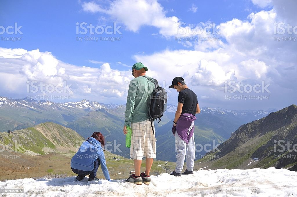 Family Holiday Around Alps Davos Switzerland royalty-free stock photo