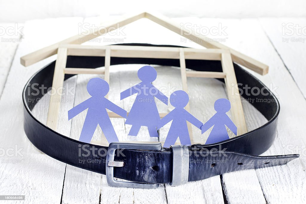Family home and crisis royalty-free stock photo