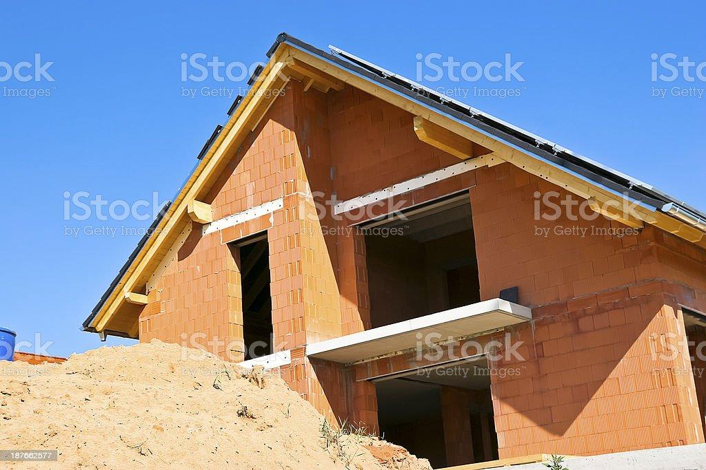 Family Home Construction royalty-free stock photo