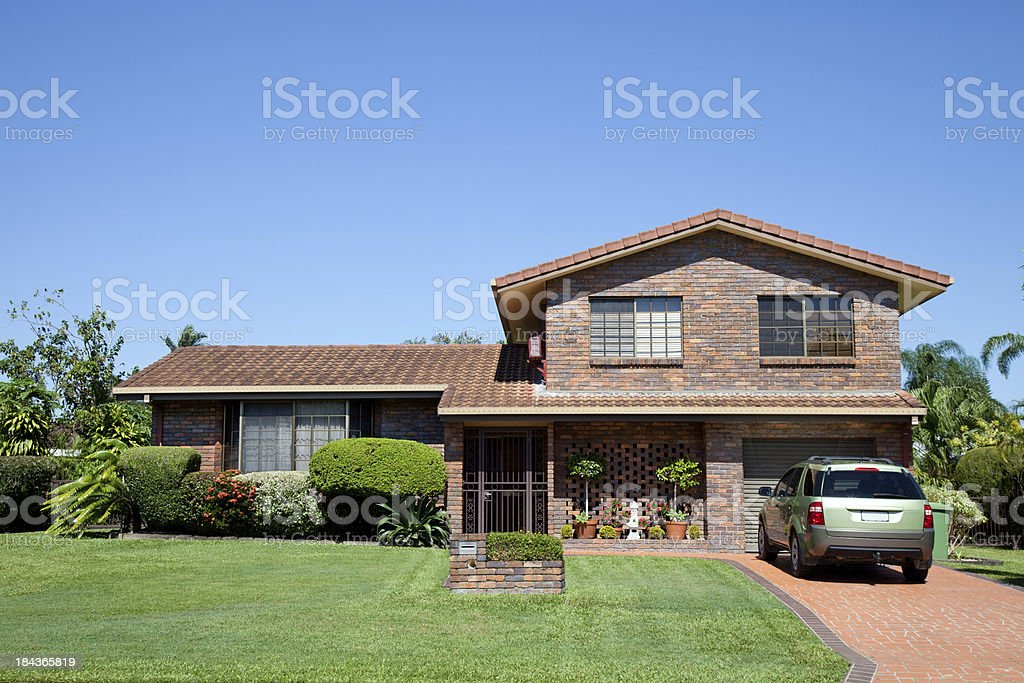 Family Home Front stock photo