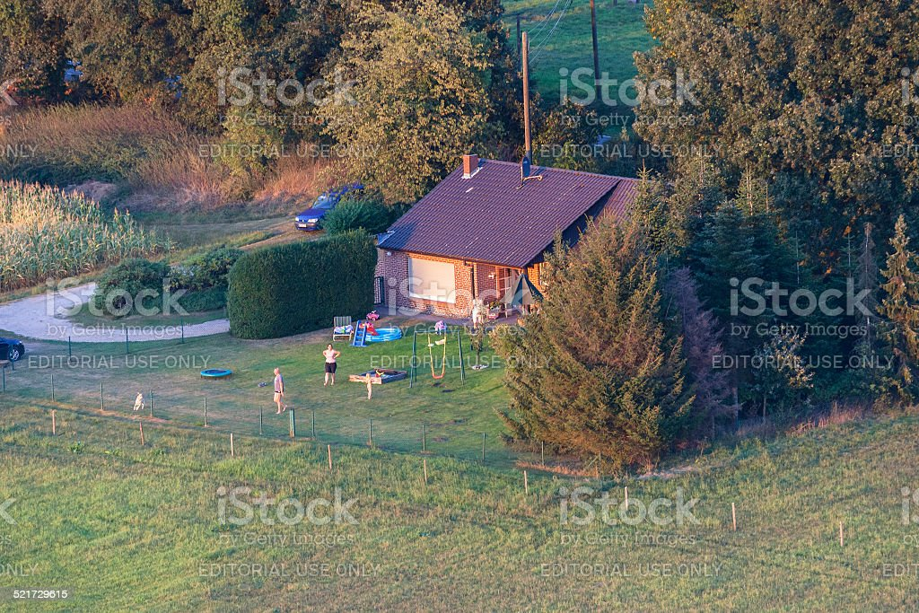 Family home in the Lower Rhine Region of Germany stock photo